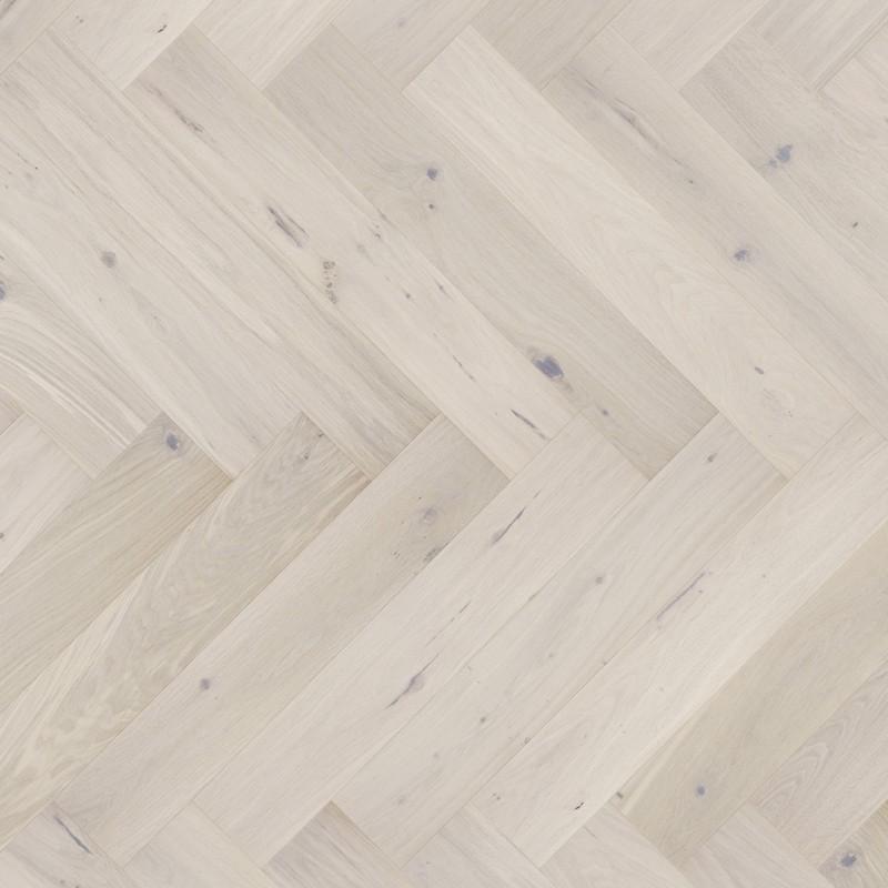 Barlinek Cappuccino Herringbone Tölgy, matt-lakkozott halszálka parketta